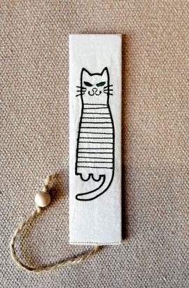 Poza cu Semn de carte cu pisica
